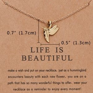 ⚡️2 for $15 Life is Beautiful Gold Color Necklace